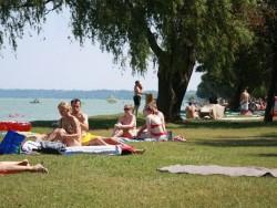 Siófok - Volná pláž Aranypart (Zlatý břeh)
